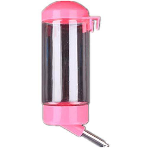 Markcur Hunde Wasserflasche Trinkflasche Kaninchen Nagertrinkflasche 400 ml - Pink
