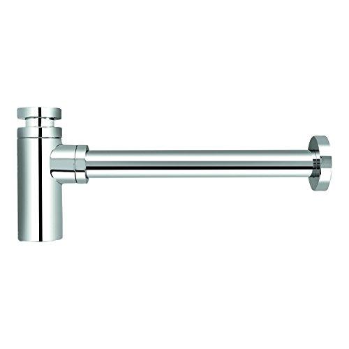 VARIOSAN Design Siphon Geruchverschluss 12555, 1 1/4', 32 mm, Messing, verchromt