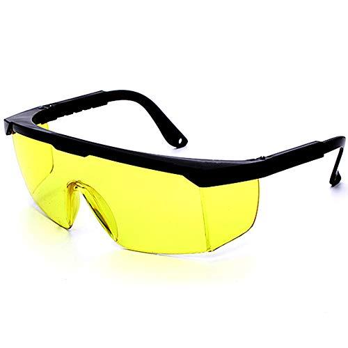 Laser-Sicherheitsbrille, Schutzbrille für Schönheitsbehandlung, Augenschutzbrille für IPL-Haarentfernung, Schutzbrille gegen Lichtimpulse, gelb