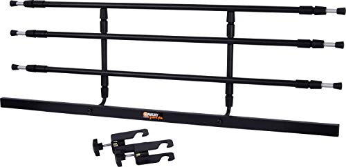 dobar 62201 Walky Guard - Robustes Trenngitter für den Kofferraum, an jedes Auto anpassbares Hundegitter, 29-45 x 85-152 cm, schwarz