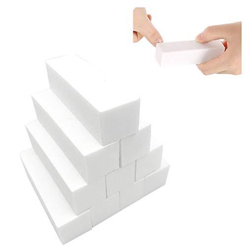 10 Stück Weiß Buffer Schleifblöcke, Polierblock Buffer der neuen Generation mit 4 Feil- und Polierflächen Nagelfeile Block Nagelkunst Maniküre Werkzeug