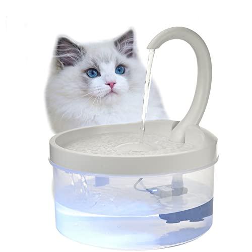 Katzen Trinkbrunnen Mit Filter Automatischer Wasserspender Haustier USB Wasser Pumpe Trinken Mit LED Licht Eleganter Wasserschüssel Leise Recycelbares Transparentes Wasserstands Fenster