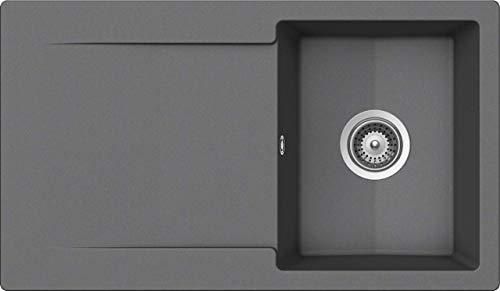 SCHOCK Küchenspüle 86 x 50 cm Epure D-100 Croma - CRISTALITE Granitspüle ab 45 cm Unterschrank-Breite