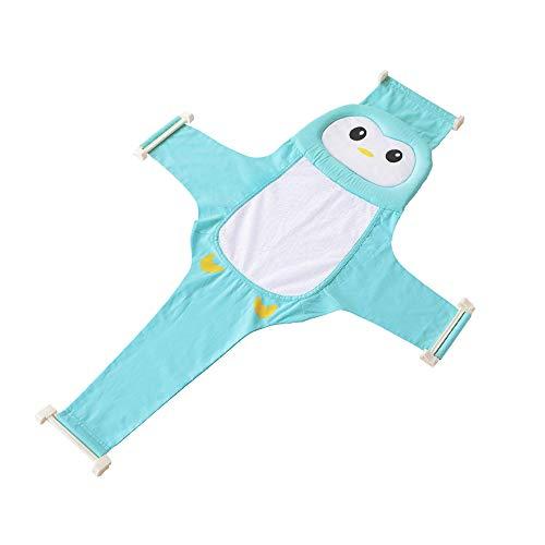MOPOIN Baby Badewannensitz, Baby Badewanne Gestell Babybadewannensitz Passend, Sicherheitsbadesitz Babybadewanne mit Ständer Kreuzförmig Badewanne Unterstützung für Neugeborenen Kleinkind (Blau)