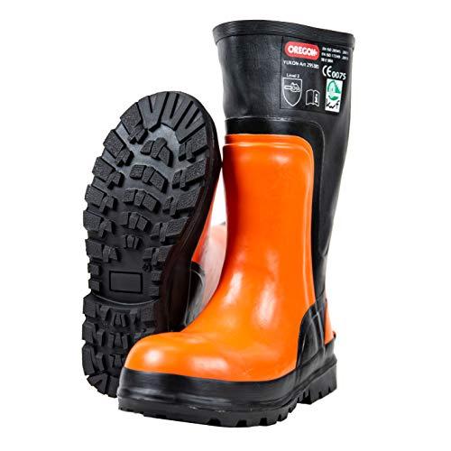 Oregon Yukon Sicherheitsstiefel aus Gummi, Schutzstiefel für Kettensägenarbeiten, 295385/43