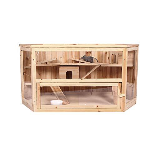 ELIGHTRY Kleintierstall Meerschweinchenstall Hamsterkäfig Holz 115 * 60 * 58 cm