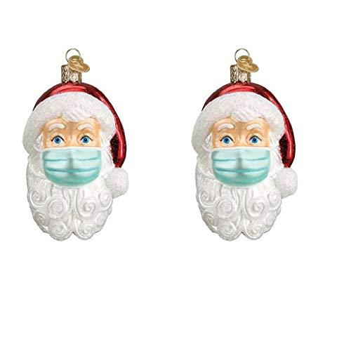 Blingko Weihnachten 2020 Weihnachtsmann AnhäNger Dekorationen Baumschmuck Personalisierte Weihnachtsschmuck üBerlebende Familie Feiertage Segen WeihnachtsbaumanhäNger (2pcs)