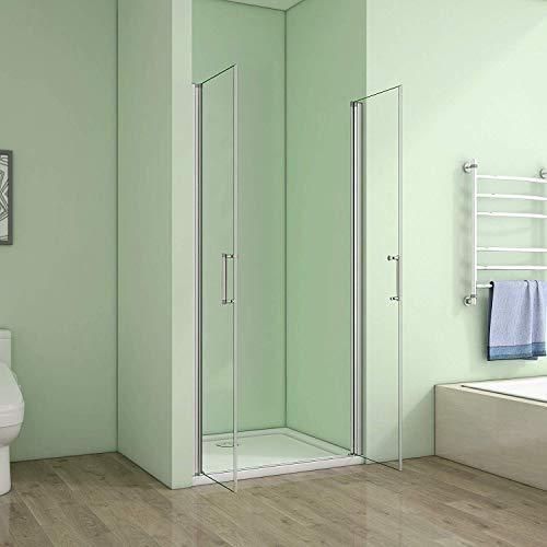 90cm Duschabtrennung Verstellbereich von 86-90cm Höhe:185cm Duschtür Doppel Nischentür Duschwand