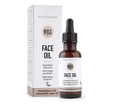 DAYTOX - Face Oil - Trockenes Gesichtsöl für Tag und Nacht - Vegan, ohne Farbstoffe, silikonfrei und parabenfrei - 1 x 30 ml