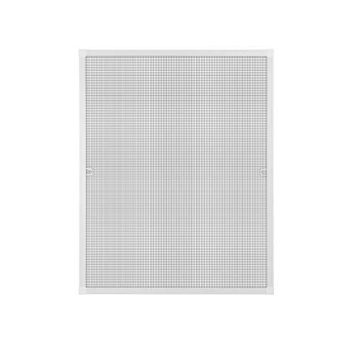 Fliegengitter Insektenschutz Fenster Alu Rahmen Bausatz 120 x 140 cm weiß