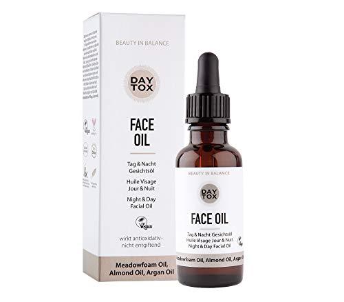 DAYTOX - Face Oil - Trockenes Gesichtsöl für Tag und Nacht - Vegan, Ohne Silikone, Made in Germany - 30 ml
