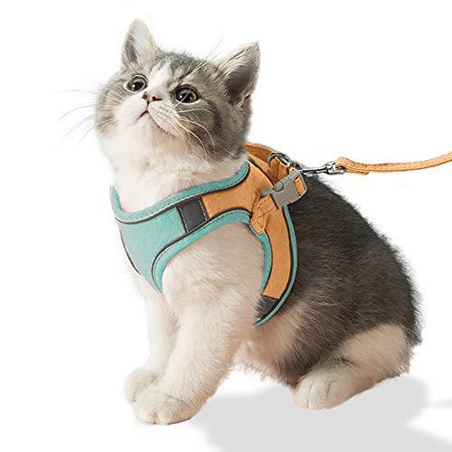 All--In Katzengeschirr mit Leine Ausbruchsicher Verstellbar Weich für Katzen und Hunde Welpgeschirr(L)