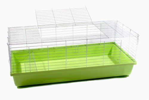 Hasenkäfig Kaninchenkäfig Meerschweinchenkäfig Kleintier Rabbit 1,20m grün