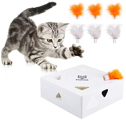 G.C Interaktives Katzenspielzeug Elektrisch Katzen Spielezeug Feder automatisch Federspielzeug Intelligenzspielzeug für Katzen Spiele