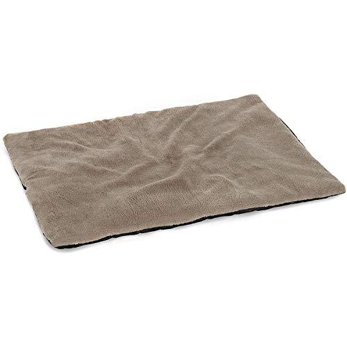 vitazoo Hundedecke, grau, isoliert und leicht gepolstert – auch für Katzen, ideal zum Mitnehmen und Transportieren, rutschfeste Unterseite, 70cm x100cm