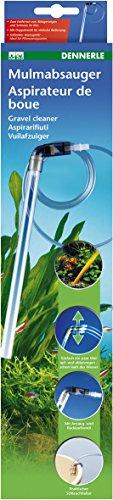 Dennerle Mulmsauger für Aquarien - inklusive Durchflussbegrenzer und Schlauchhalter - Bodengrundreiniger Mulmglocke Kiesreiniger
