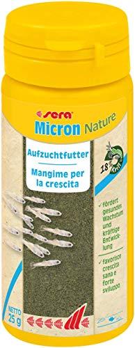 sera Micron Nature staubfeines Aufzuchtfutter mit Zoo- (18 % Krill) und Phytoplankton (51 % Spirulina) ein Plankton bzw. Staubfutter oder Jungfischfutter & Niedere Tiere