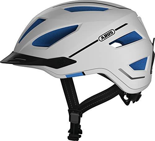 ABUS Pedelec 2.0 Stadthelm - Hochwertiger E-Bike Helm mit Rücklicht für den Stadtverkehr - für Damen und Herren - 81918 - Weiß, Größe L