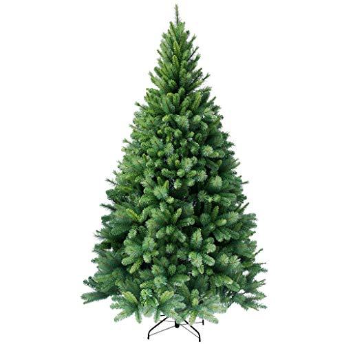 RS Trade HXT 1101 künstlicher Weihnachtsbaum 120 cm (Ø ca. 76 cm) mit 446 Spitzen und Schnellaufbau Klapp-Schirmsystem, schwer entflammbar, unechter Tannenbaum inkl. Metall Christbaum Ständer