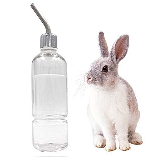 M.Z.A 180 ml Haustier Kaninchen Hängende Wasser Trinkflasche Kleine Haustier Brunnen Automatischer Wasserspender für Kaninchen Meerschweinchen Hamster