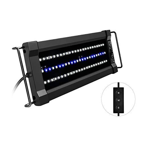 NICREW ClassicLED G2 Aquarium Beleuchtung, Steuerbar LED Lampe mit Mondlicht, IP67 Wasserdicht für Süßwasser-Aquarien, 30-43cm