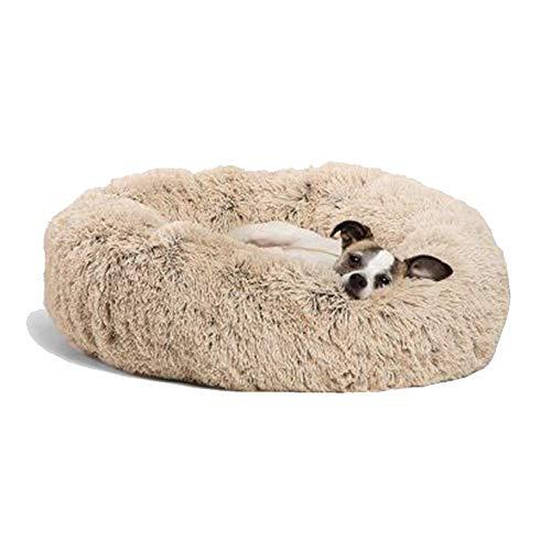 KongEU Waschbar Hundebett für kleine und große Hunde,Hundekissen Schlafplatz waschbar,atmungsaktiv,pflegeleicht Hundekorb Weich-M:70 * 70 * 20CM-Coffee