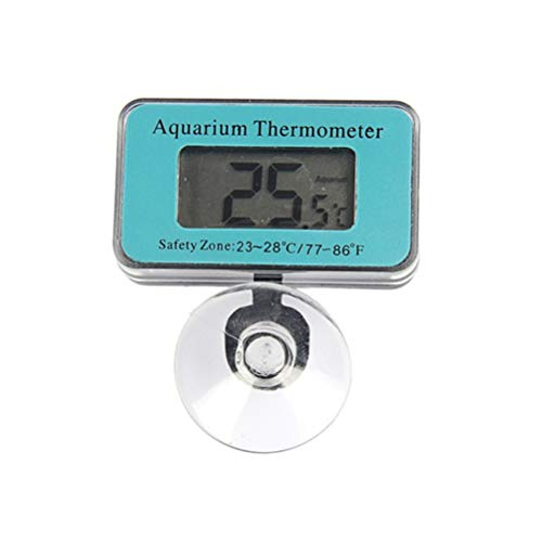 Weesey LCD-Display Aquarium-Thermometer Digitaler Aquarium-Wassertemperaturmesser