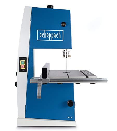 Scheppach Bandsäge BASA1 (300 Watt, max. Schnitthöhe: 100mm, Durchlassbreite: 195mm, bis zu 45° schwenkbarer Arbeitstisch, Bandrad-Ø: 200mm, Schnittgeschwindigkeit: 880m/min)