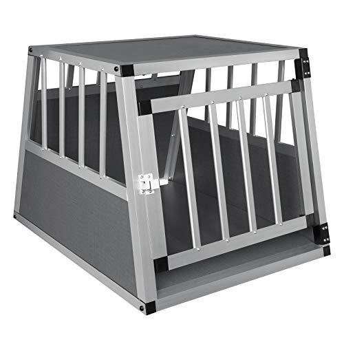 EUGAD Hundebox Transportbox Hundetransportbox Alu Reisebox Gitterbox Box L 69 x B 54 x H 50 cm 0006LL