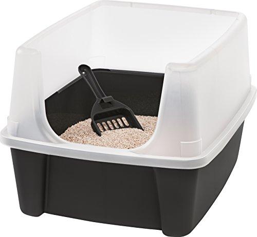 Iris Katzentoilette mit Rand und Schaufel 'Cat Litter Box', Plastik, 48,5 x 38 x 30,5 cm