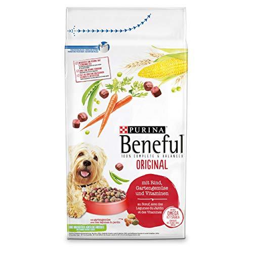 PURINA BENEFUL Original Hundefutter trocken, mit Rind und Gartengemüse, 1er Pack (1 x 12kg)