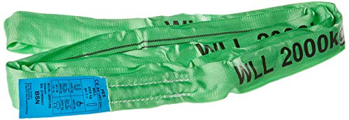 Braun 20031RS Rundschlinge 2000 kg Tragkraft, 3 m Umfang, endlos mit Polyesterkern, grün