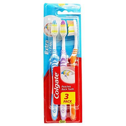 Colgate Extra Clean Zahnbürste Mittel 2+1