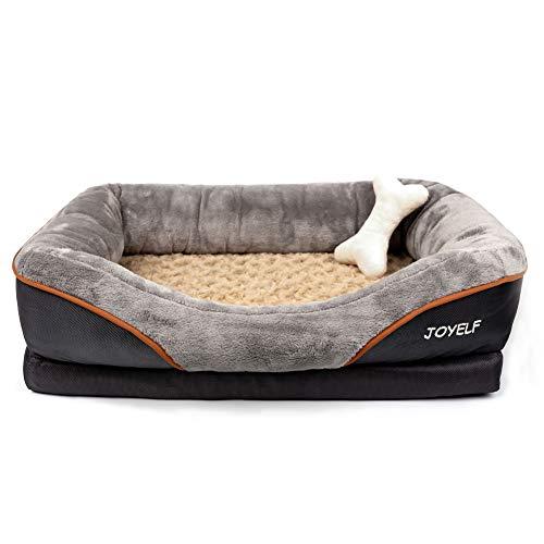 JOYELF Memory Foam Hundebett Kleines orthopädisches Hundebett & Sofa mit abnehmbarem waschbarem Bezug und Quietschspielzeug als Geschenk