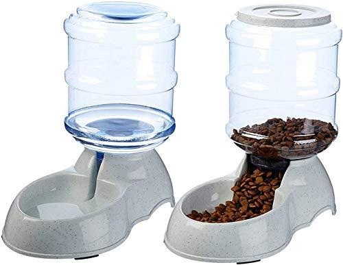 XIAPIA Futterautomat Katze Futterspender und Wasserspender für Hunde Haustier als Welpen Kitten Starterset 3,8 L x 2