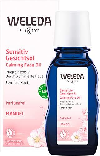 WELEDA Mandel Wohltuendes Gesichtsöl, intensives Naturkosmetik Bio Pflegeöl gegen unreine Haut, Hautirritationen und zur Make-up Entfernung, für Neurodermitiker geeignet (1 x 50 ml)