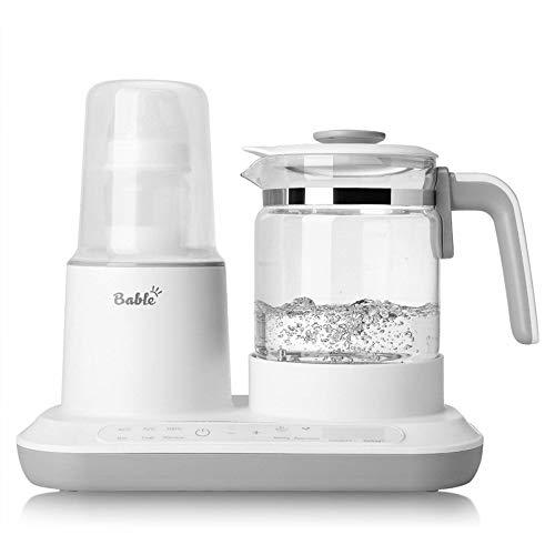 Bable Flaschenwärmer Milchwärmer Milchregler, mit schnellem elektrischem Wasserkocher aus Glas, Babykostwärmer, Präzise Temperaturregelung, sterilisieren die Flasche,