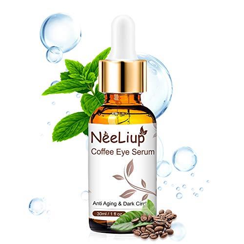 Augenserum mit Hyaluronsäure, Koffein, Aloe Augencreme Gegen Falten und Augenringe, Antialterung, Augentaschen, Feuchtigkeitscreme-Augenserum für Männer und Frauen