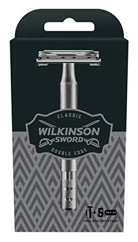 Wilkinson Sword Classic Vintage Edition Herren Rasierer mit 5 Rasierklingen, 1 St