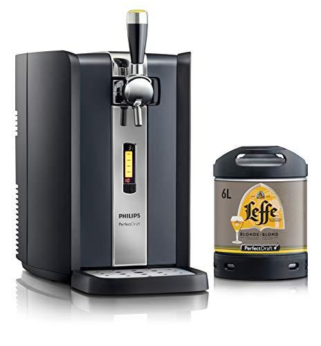 Bierzapfanlage PerfectDraft 6-Liter. Beinhaltet 1 x 6L Fass Leffe Blonde Bier - Blonde Ale. Inklusive 5euros Pfand.