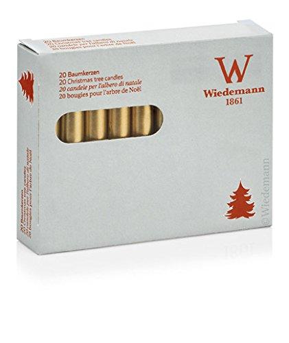 Baumkerzen 20er goldene (580802.26) Gold lackiert 13 x 96 mm Weihnachtsbaumkerzen