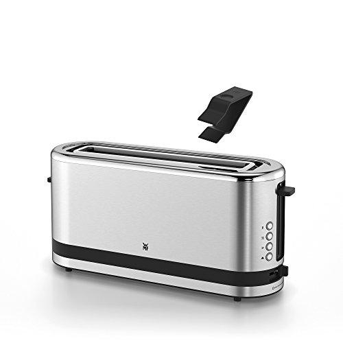WMF Küchenminis Toaster Langschlitz mit Brötchenaufsatz, 2 Scheiben, XXL, Bagel-Funktion, 7 Bräunungsstufen, 900W, Toaster edelstahl matt