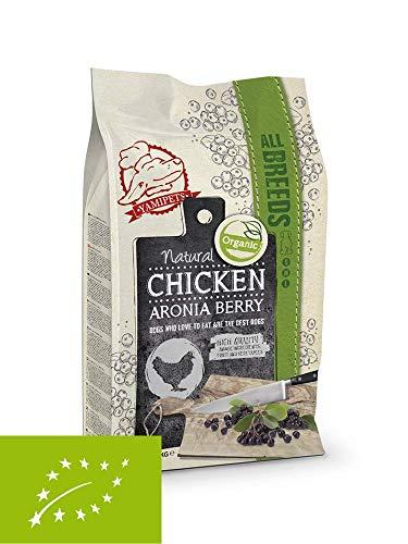 Yamipets Natural Fresh Meat Bio Trockenfutter Hunde 12kg - Hühnchen/Aronia Beere mit Lachsöl- Getreidefreies Premium Hundefutter mit hohem Fleischanteil - Für alle Hunderassen