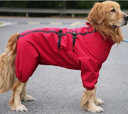 Idepet Hundereimantel,wasserdichte Hunderegenjacke Verstellbarer Hunderegenponcho mit Gurtloch Winddichter Hundemantel Regenschutz für große mittelgroße kleine Welpenhunde