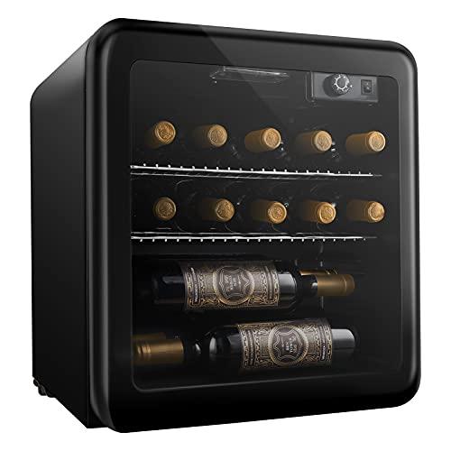 Weinkühlschrank, Mini kühlschrank, Getränkekühlschrank von 16 Flaschen 46L/ 4-16℃/ 43dB