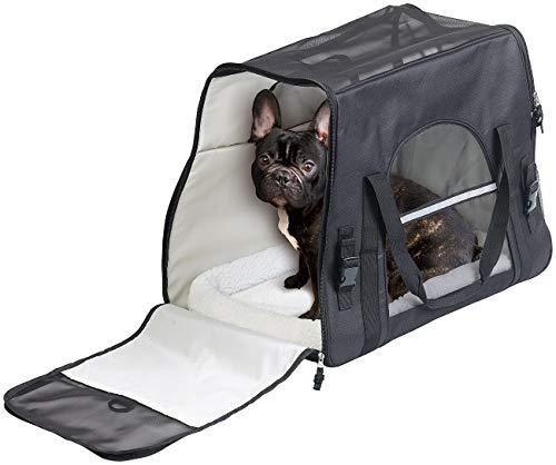 Sweetypet Katzentransporttasche: Hand- & Auto-Transporttasche für Haustiere bis 15 kg, Größe L, schwarz (Hundetransporttasche)
