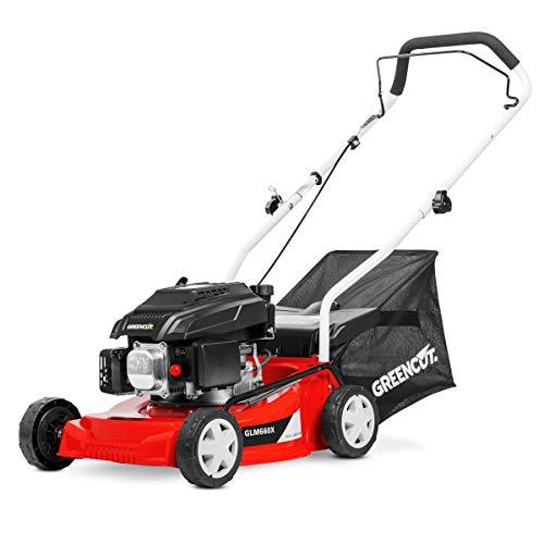 GREENCUT Benzin-Rasenmäher 139cc 5PS manuelle Traktion breiter Schnitt 407mm