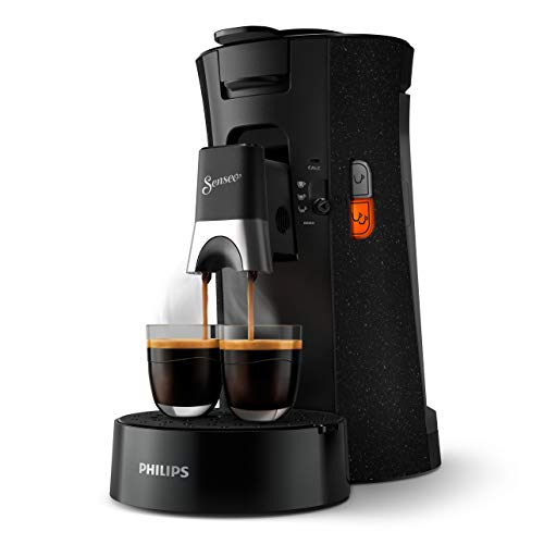 Philips Senseo Select ECO CSA240/20 Kaffeepadmaschine - Kaffeestärkewahl Plus, Memo-Funktion, aus recyceltem Plastik, schwarz/gesprenkelt