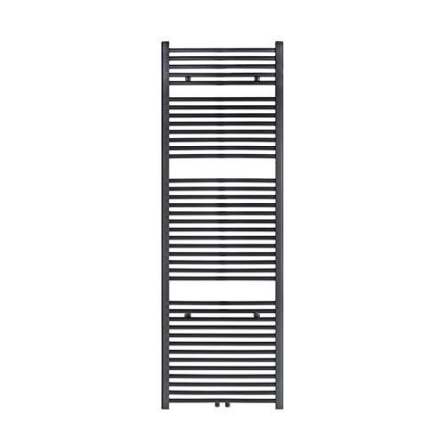 VILSTEIN Bad-Heizkörper, Horizontal, Schwarz, Seitenanschluss und Mittelanschluss, 1800x600 mm