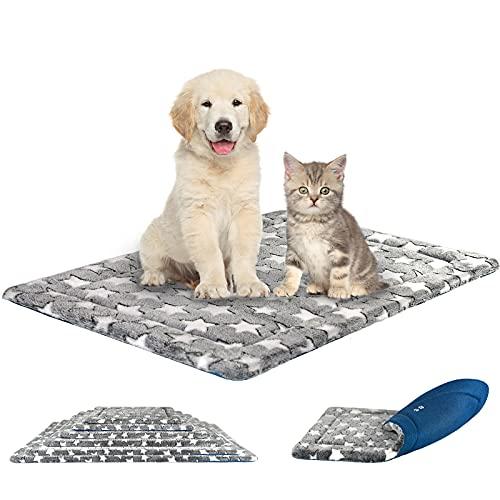 KROSER Hundematte 76CM Stilvolles Haustiermatte Wende Bettbettmatte (Kühl und Warm) Weiches Hundebett Schaumstoff mit hoher Dichte Waschbar Haustierbett für Mittlere Hunde bis zu 20 Kg MEHRWEG